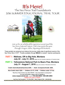 NPTF SUMMER EDUCATIONAL TRAIL TOUR